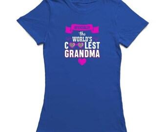 Oficially The World's Coolest Grandma Women's T-shirt