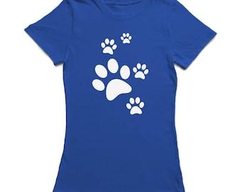 Cute Cat Paws Medium Front Graphic Women's T-shirt