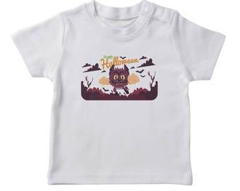 Happy Halloween Cute Scary Wolf Boy's White T-shirt
