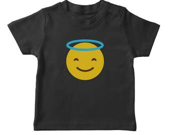 Smiling Face With Halo Emoji Boy's T-shirt