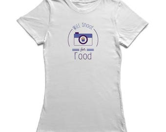 Will Shoot For Food Graphic Women's T-shirt