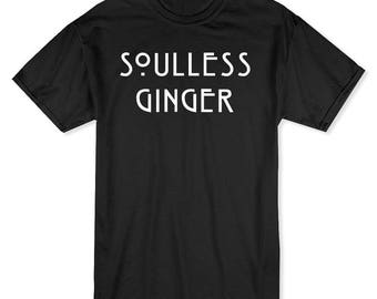 Soulless Ginger One For Every Freckle Men's Black T-shirt