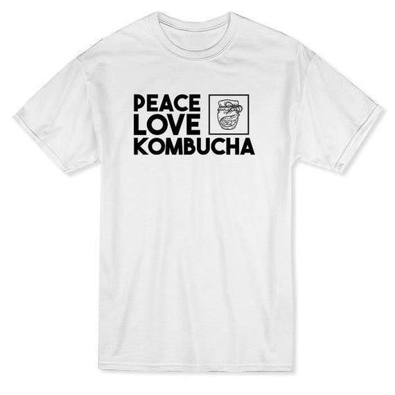 Peace Love Kombucha Men/'s T-shirt
