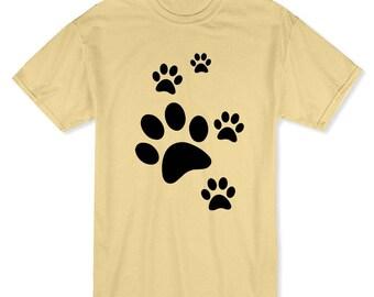 Cute Cat Paws Medium Front Graphic Men's T-shirt