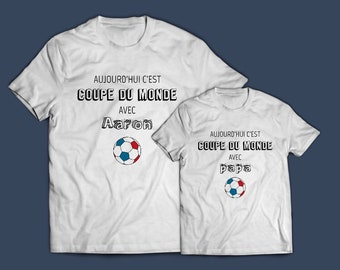 Coupe du monde - lot t-shirt parent - enfant