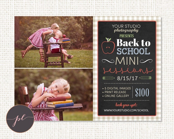 Back To School Mini Session Template Photography Marketing Etsy