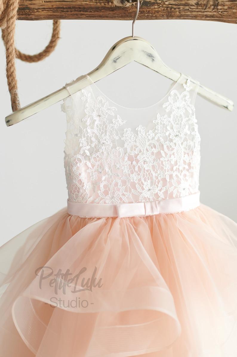 Blumenmädchenkleid Blush Pink