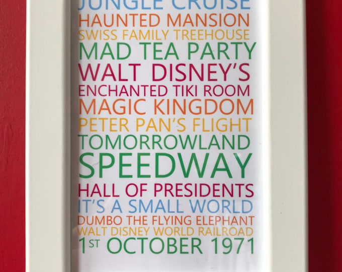 Featured listing image: Magic Kingdom - Features & Attractions Wall Art