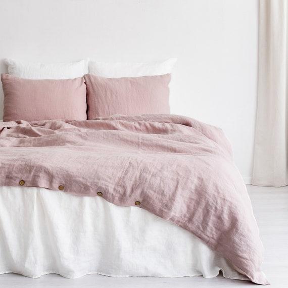 Linen pillowcase dusty rose | Linen