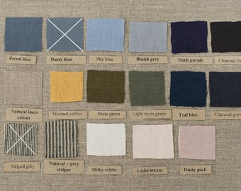 Linen fabric samples - READY TO SHIP Softened linen fabric 100% natural linen