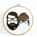 Custom Couple Silhouette Embroidery Hoop Art. Custom Couple Portrait. Cotton Anniversary gift for Him Her. Cotton Anniversary Ideas