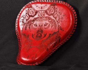 Handmade leather solo bobber/chopper seat