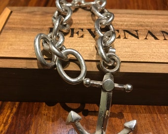 Monster 925 sterling silver Old Anchor bracelet.