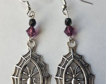 Halloween: Tangled Web Earrings