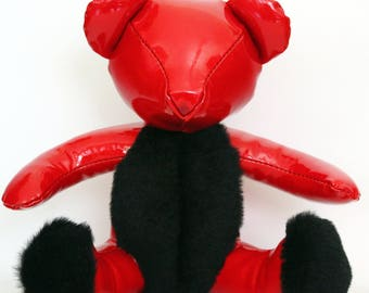 Reserved Statuette made of leather - red unique PM Brabus