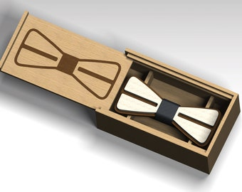 Bow tie and box. 12)   Laser Cut Vector FILE cdr, dxf, for laser cut or cnc router