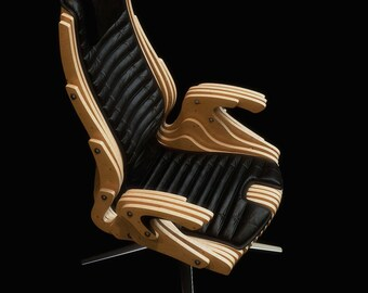 Parametric office chair vector file for CNC