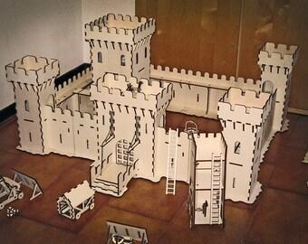 Castle under attack decor for home 3d model 3d puzzle CNC ,decorative ,art,interior,souvenir ,wood, wooden, vector graphics,laser