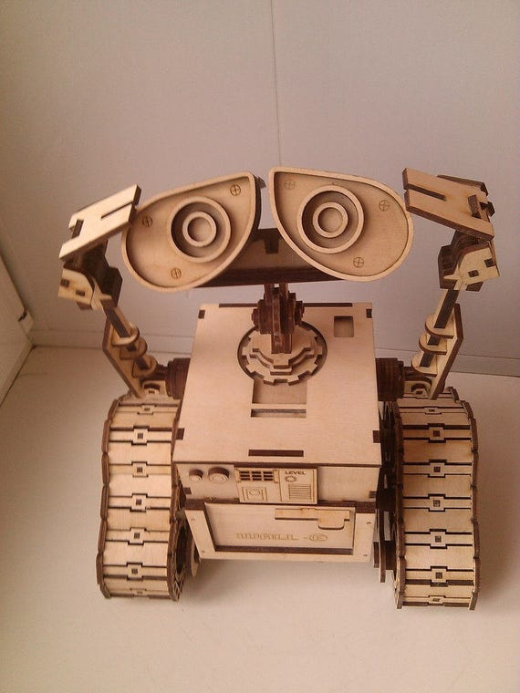 Wooden Constructor Robot Wall E Wooden Model Puzzle Game