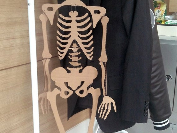 Plywood human skeleton 3d model 3d puzzle decor for home Vector plan of the  CNC wood, wooden, vector graphics,laser,DXF
