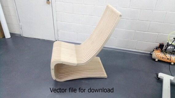 Ei Stoel Ontwerper.Stoel Vector Bestand Voor Lasersnijden Cnc Houten Ontwerper Dxf Vector Plan Direct Downloaden