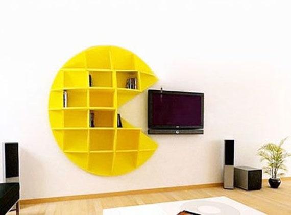 Etagere Pacman 3d Puzzle Decoration Pour La Maison 3d Modele Plan De Vecteur Du Bois Cnc En Bois Vectoriel Laser Dxf