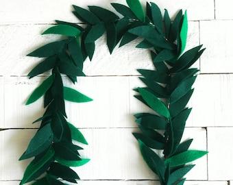 Felt Leaf Lei | Lei for Boys | Tropical Party | Hawaii Theme Party | Baby Shower | Tropical Party Favor
