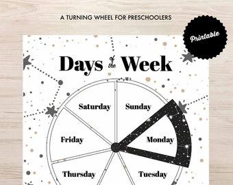 Days of the Week Wheel Printable