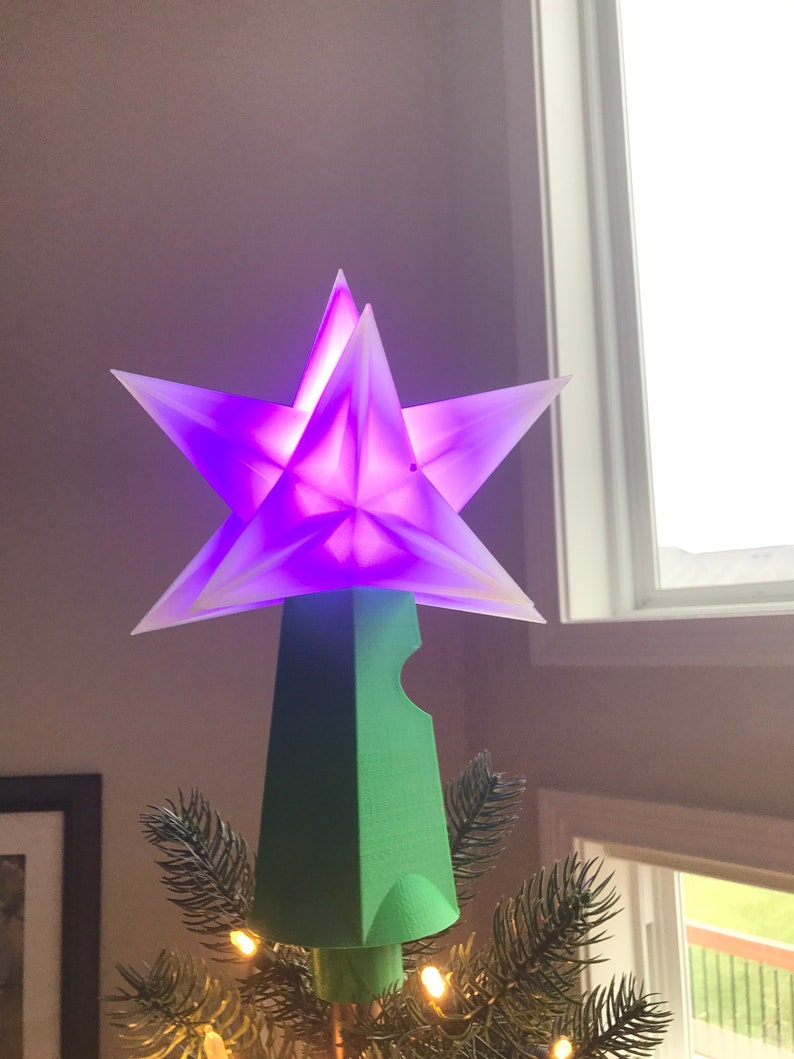 8 Lighted Multi Point Star Christmas Tree Topper