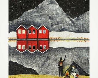 Shooting Star (Giclée impression of an original illustration)