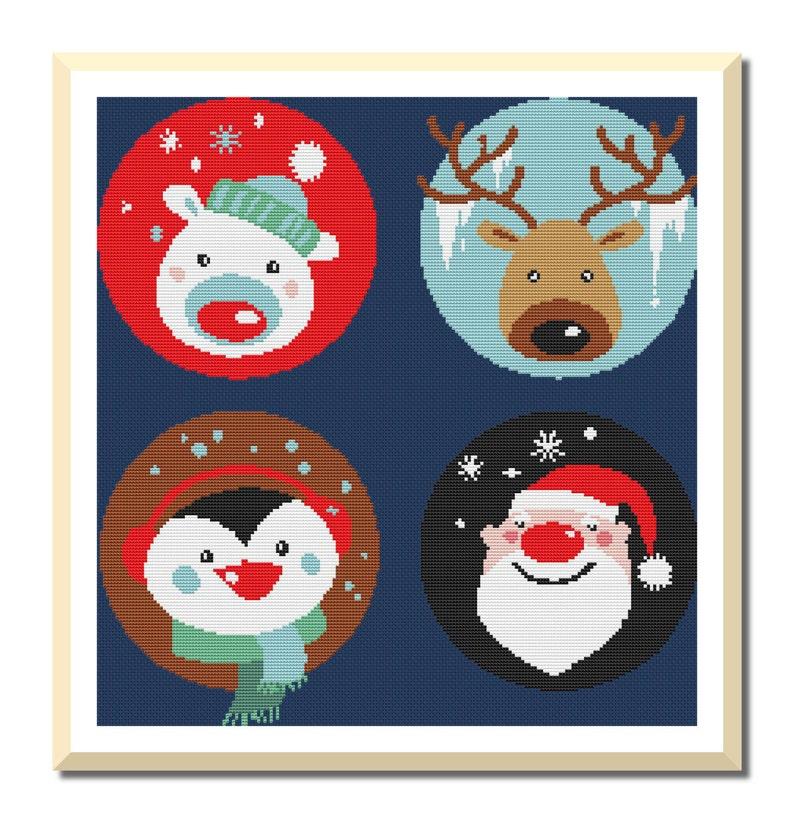Joyeux Noël à Motifs de Point de Croix Needlecraft Couture   Etsy