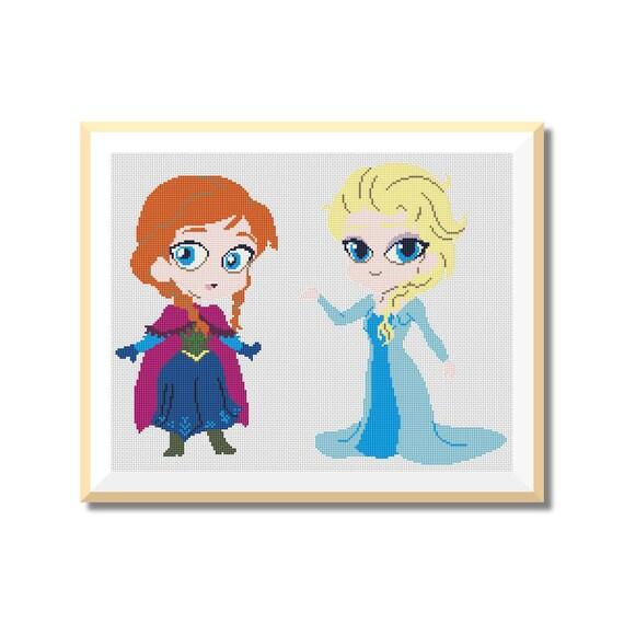 BOGO GRATIS Frozen de Disney Patrón de punto de CruzDescarga | Etsy