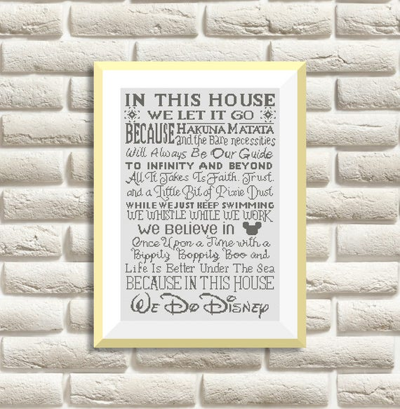 BOGO GRATIS Disney en punto de Cruz Patrones Needlecraft | Etsy