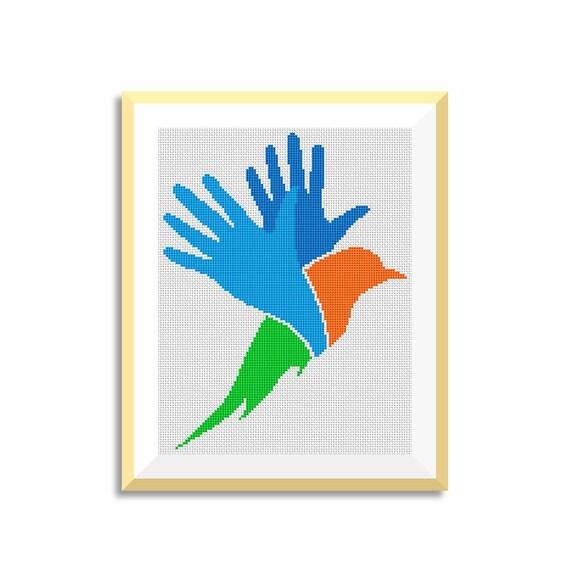 BOGO GRATIS Aves de punto de Cruz Patrones Needlecraft | Etsy