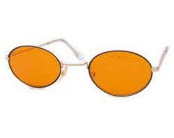 Small Orange Sunglasses (black frame)