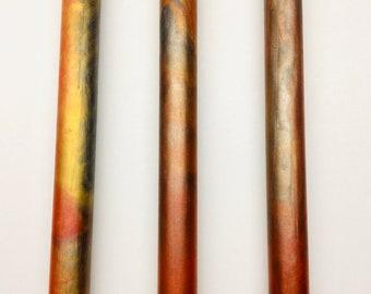 Sunset Steel Bespoke Kitless Pen Blanks Cast In Alumilite Resin