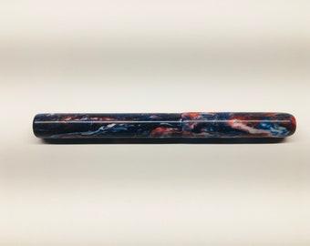 Red White Blue | Star Spangled Banner | Diamond | DiamondCast | USA | Bespoke Kitless Fountain Pen