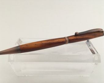 Slimline Ballpoint Pen | Cocobolo Wood | Antique Copper | Handmade Pen