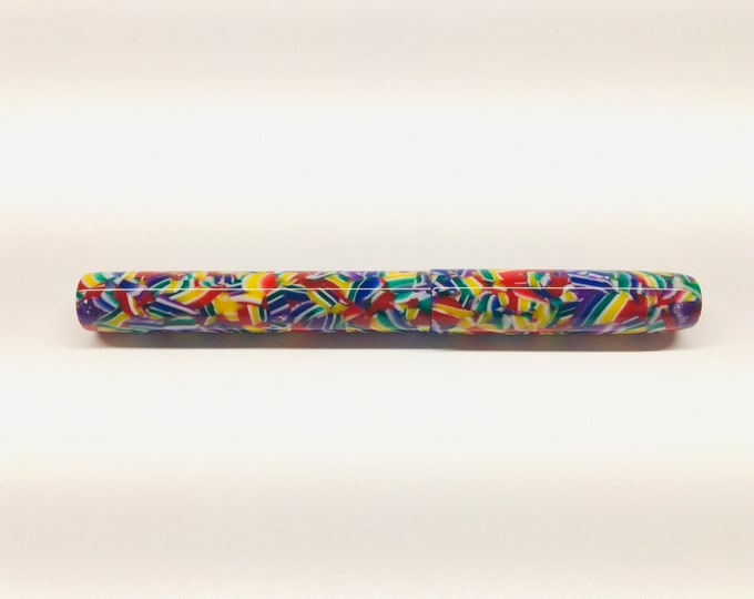 Featured listing image: Confetti | Green | Blue | Red | Yellow | Multi-colored | Bespoke Kitless Fountain Pen