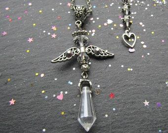 Crystal Angel Necklace, Angel Necklace, Crystal Necklace, Unique Necklace, Angel Jewellery, Friendship Gift, Gift for Her, Angel Pendant