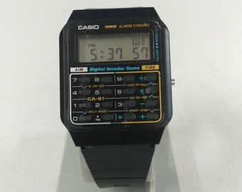 Casio CA-51 Module 433 Calculator Watch Digital Invader Game FIRE