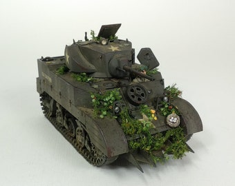 Built 1/35 Stuart with Hedgerow