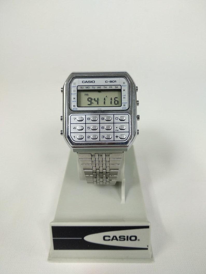 Casio C 801 Calculator Watch Module 133 Etsy