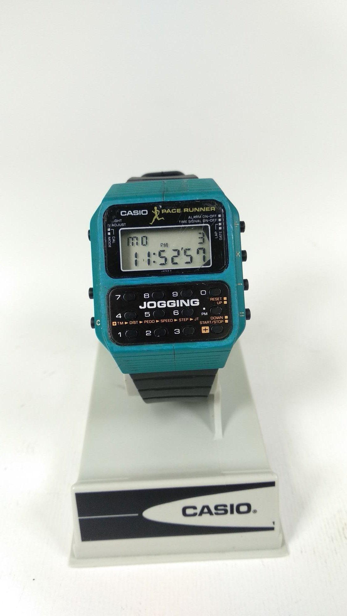 Casio J-100 Jogging Blue Version Calculator Watch Module 183