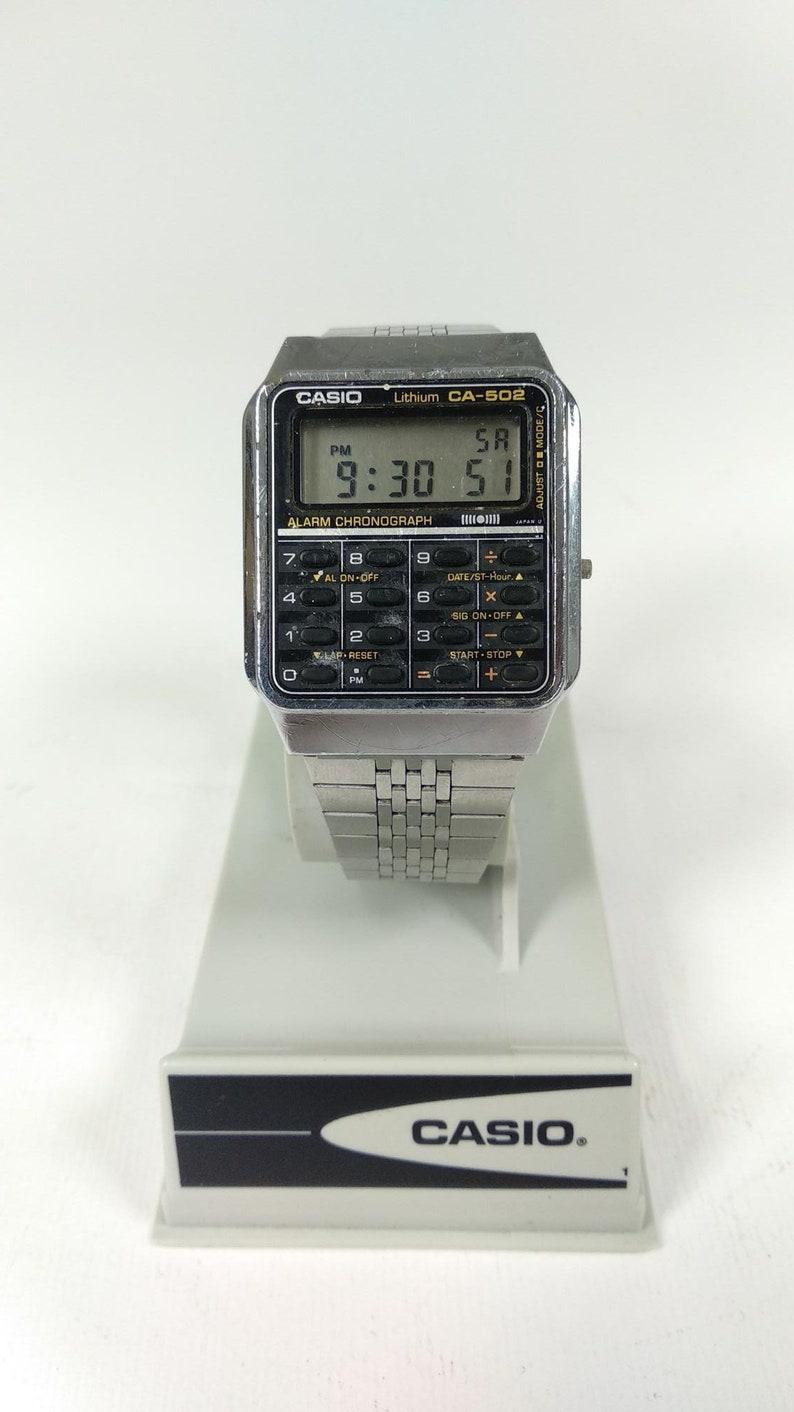 Casio Ca 502 Calculator Watch Module 437 Module 437 Etsy