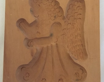 Springerle Vintage Hand-Carved Cookie/Paper Mold (East Germany) – Angel