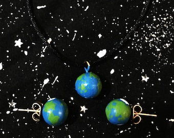 Your favorite Planet Set /Astronomy Jewelry/Cosmic Jewelry/Planet Set/Space Necklace/Cosmic Earrings/Astronomy/Cosmos/Universe/Space Gift