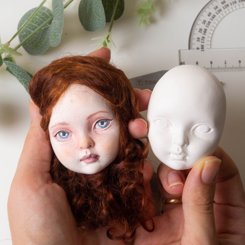CERAMIC FAIENCE FACE Porcelain face create doll make doll
