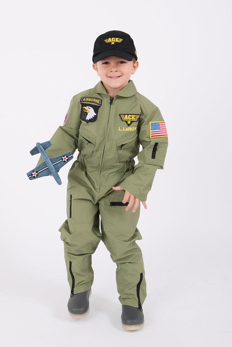 56bd83ec07a Authentic Fighter Pilot Uniform for Kids Personalized