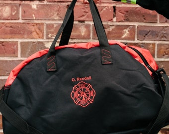 Bunker Gear Bag - Embroidered with your 1st initial & Last name and Maltese Cross